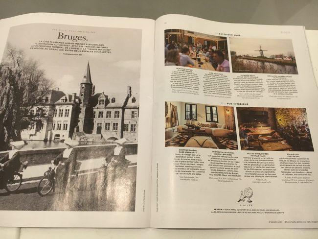 Publicatie in La magazine du Monde - Sacha Jennis - Bruges