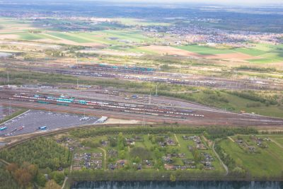 luchtfoto infrastructuur haven van antwerpen wegen spoornet