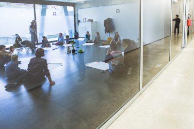 workshop theater tijdens stormopkomst