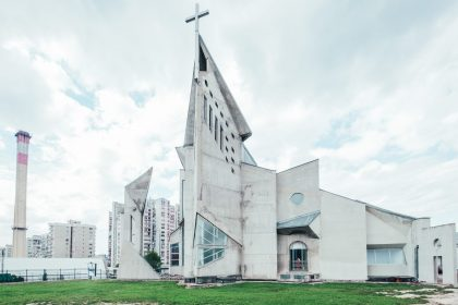 Brutalist architecture in Europe Architecture photograghy brutalism Sarajevo church