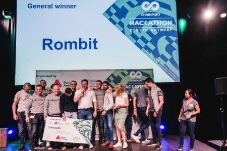 Rombit winnaars ChainPORT Hackathon ©Sacha Jennis