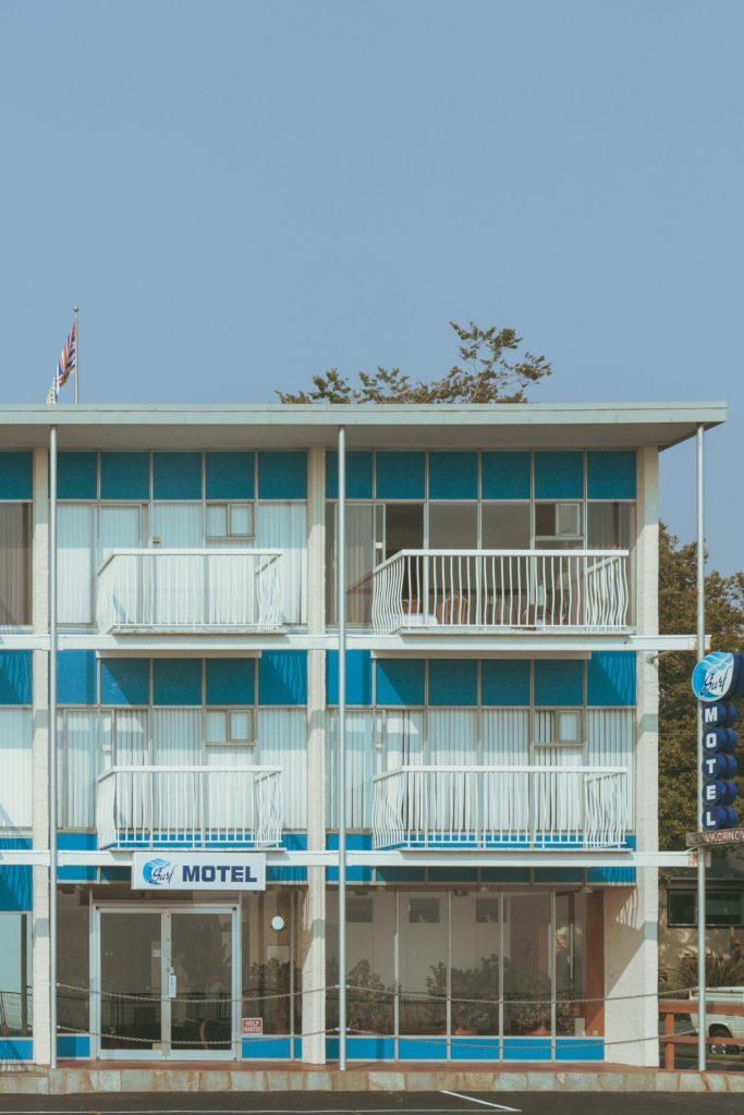 lakeside motel in British Columbia, Canada captured by Sacha Jennis