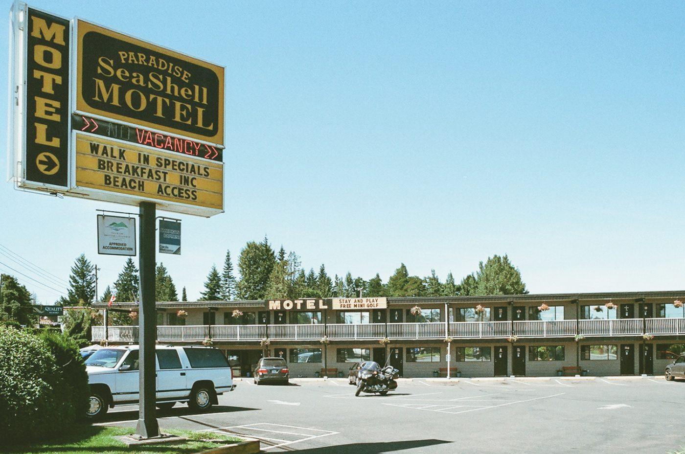 roadside motel in British Columbia, Canada
