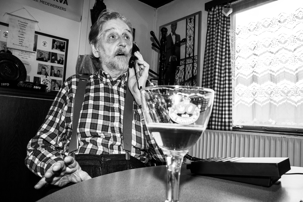 Fons, telefonist bij Radio Minerva